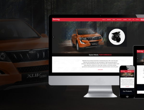 Proud Moment:  Webwingz Crafts Website for the Renowned Mahindra Powertrain
